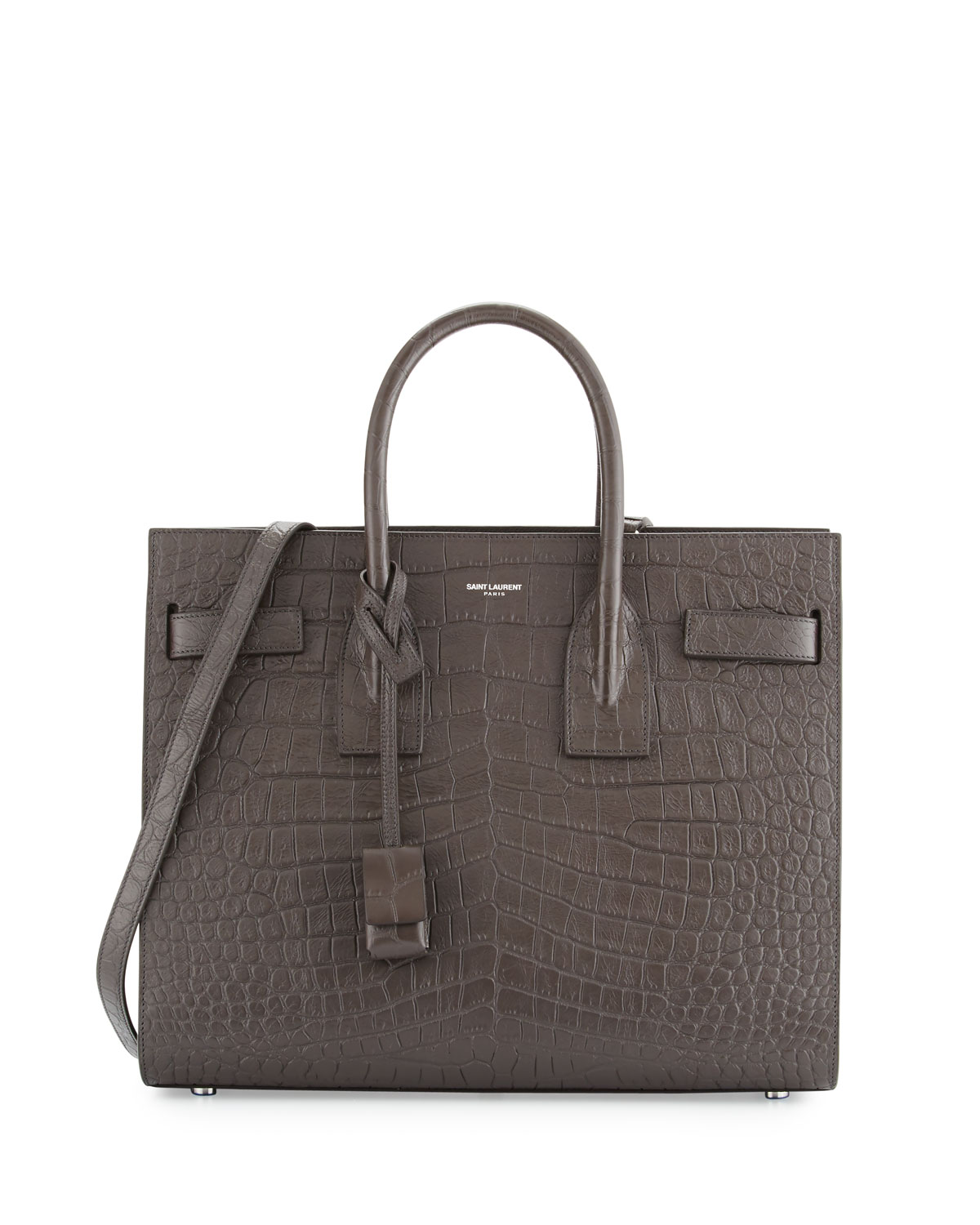 5a043479fe Saint Laurent Sac de Jour Small Crocodile-Embossed Satchel Bag