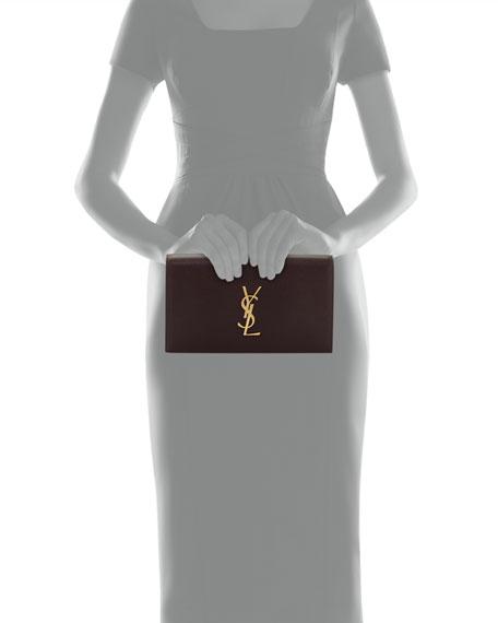 Monogram Kate Leather Clutch Bag, Bordeaux