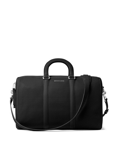 Libby Large Perforated Gym Bag, Black