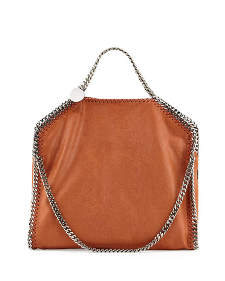 Stella McCartney Falabella Fold-Over Tote Bag, Brandy