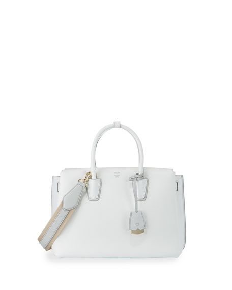 MCMMilla Medium Leather Tote Bag, Cloud Dancer