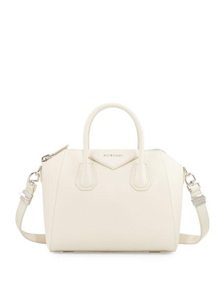 Givenchy Antigona Small Sugar Satchel Bag, Ivory