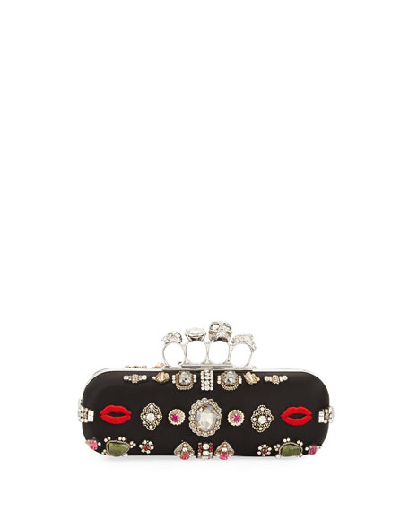 Alexander McQueen Antique Ring Knuckle Box Clutch Bag,