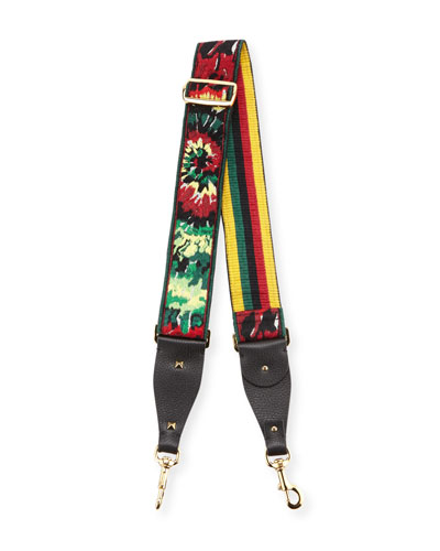 Tie-Dye Embroidered Guitar Strap for Handbag, Army
