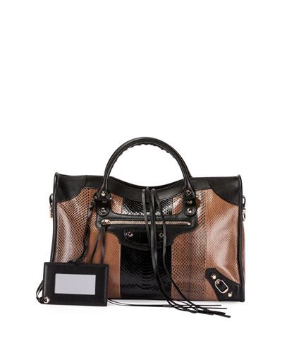 replica chloe marcie - balenciaga classic mini city shearling shoulder bag, balenciaga ...