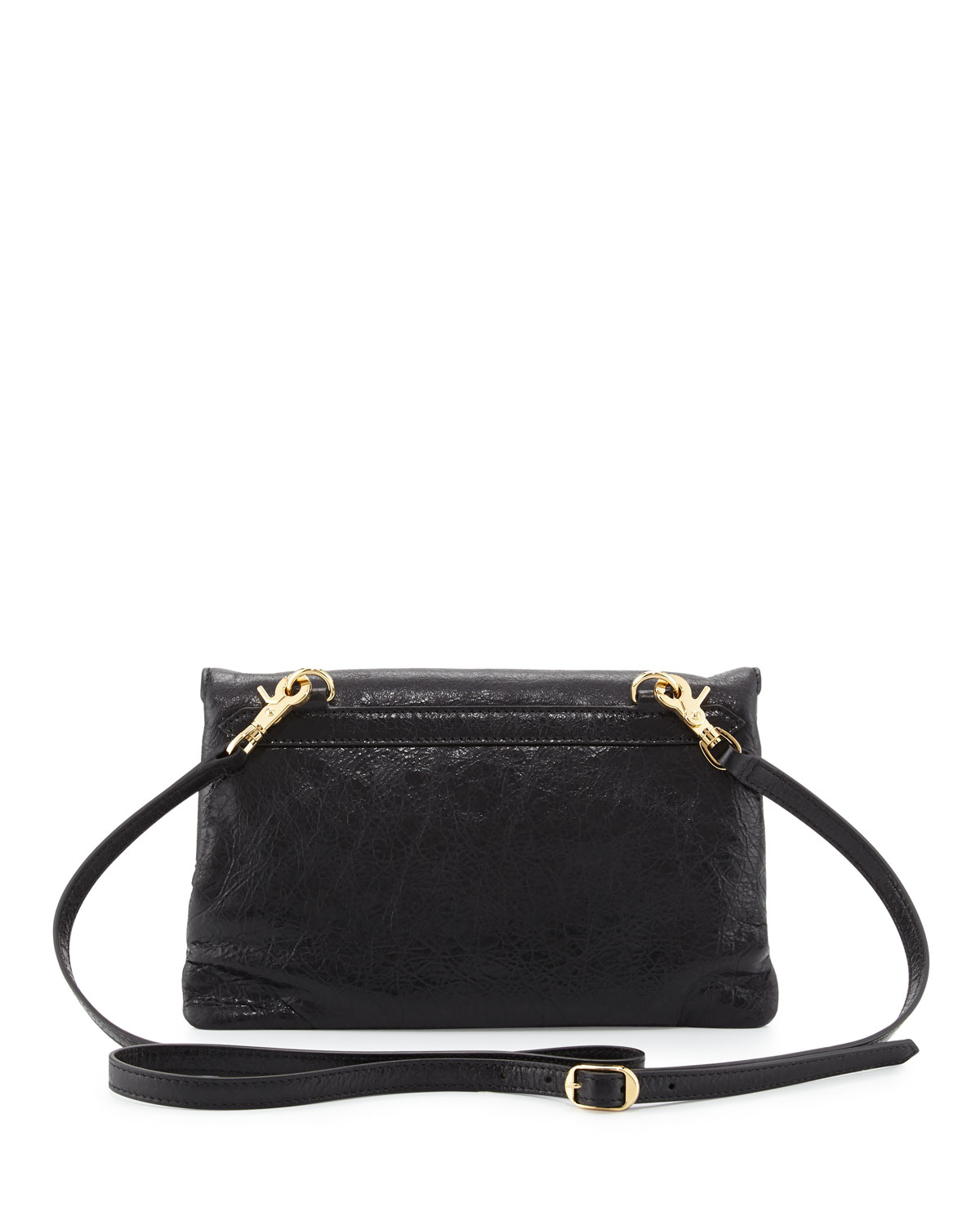 81beff996a6 Balenciaga Classic Gold Mini Envelope Crossbody Bag, Black (Noir) | Neiman  Marcus