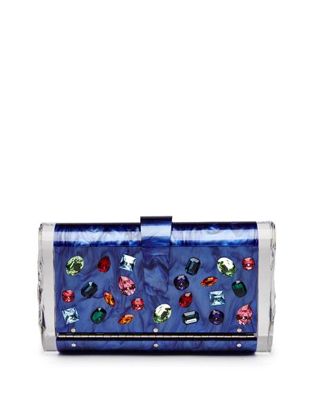 Edie Parker Lara Jewelie Clutch Bag, Royal Multi