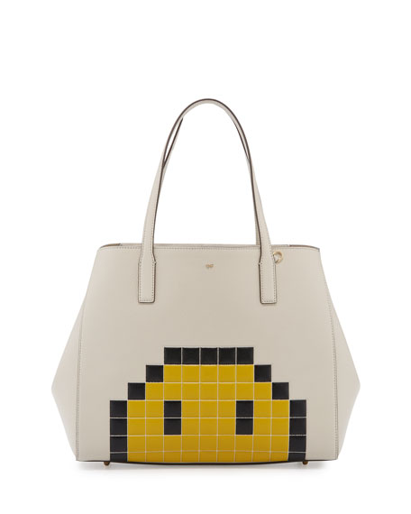 Anya Hindmarch Ebury Pixel Simley Shopper Tote Bag,