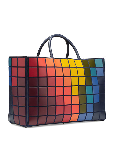 Ebury Maxi Giant Pixels Tote Bag, Multi