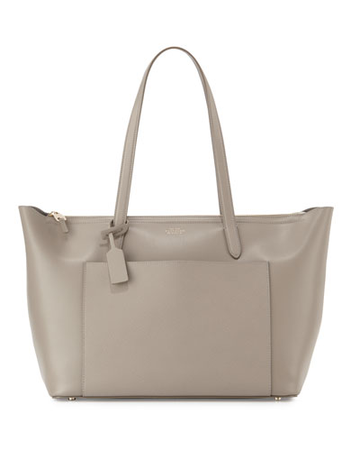 Panama East-West Zip Tote Bag, Dove