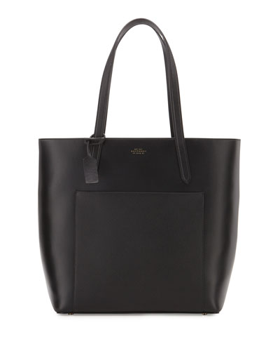 Panama North-South Zip Tote Bag, Black