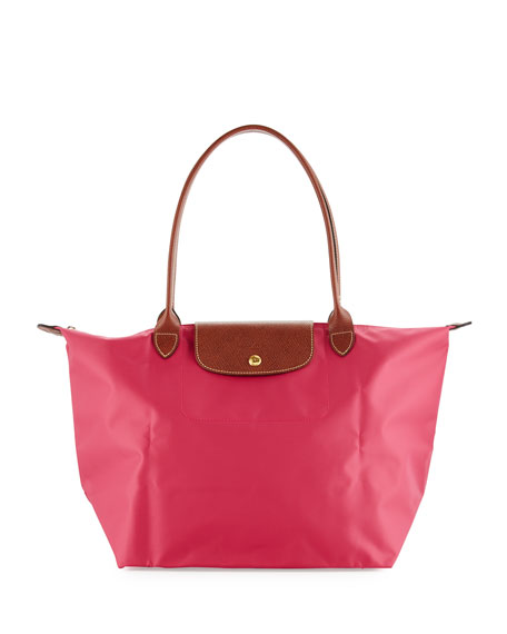 LongchampLe Pliage Large Shoulder Tote Bag, Pink
