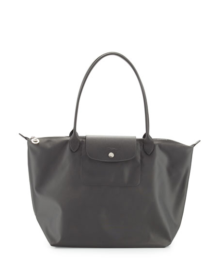 Le Pliage Neo Large Nylon Shoulder Tote Bag, Gray