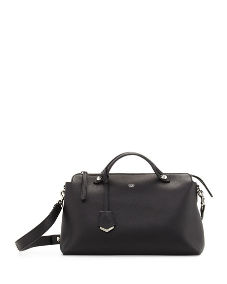 FendiBy The Way Large Satchel Bag, Black