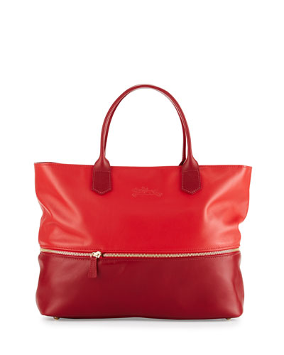 Longchamp 2.0 Expandable Tote Bag, Poppy/Ruby
