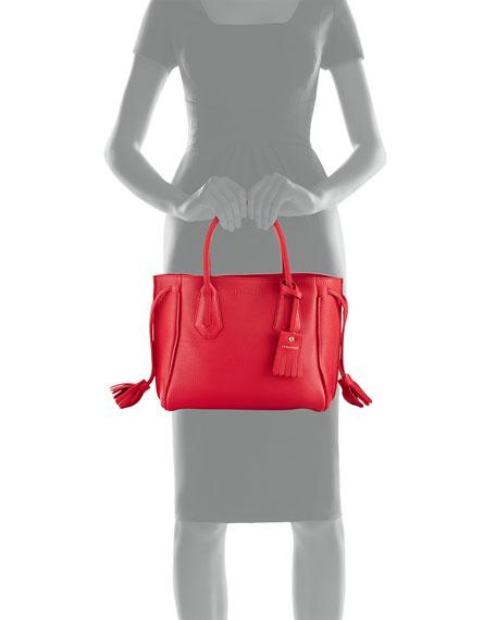 Pénélope Small Leather Tote Bag