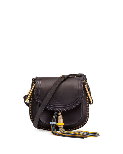 Hudson Small Tassel Shoulder Bag, Navy