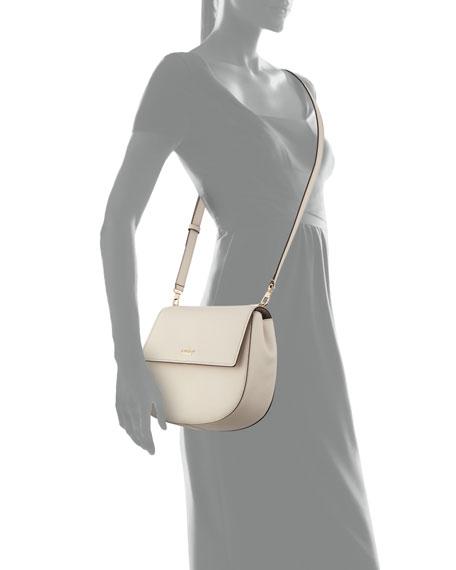 cameron street byrdie leather crossbody bag, crisp linen