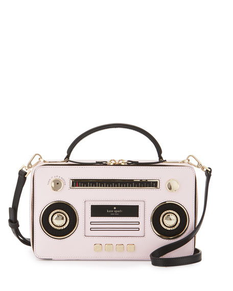 jazz things up boom box shoulder bag, multicolor