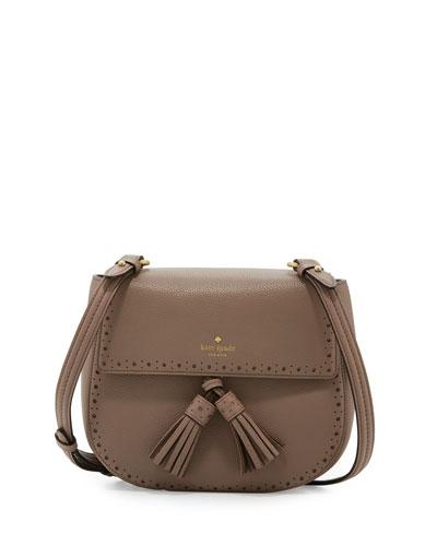 james street shaylee leather crossbody bag, earthen root