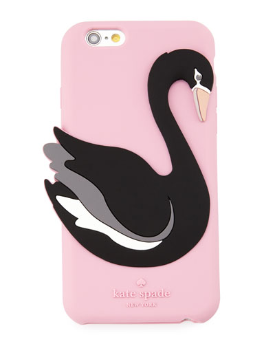 silicone swan iPhone® 6/6s case, pink/multi
