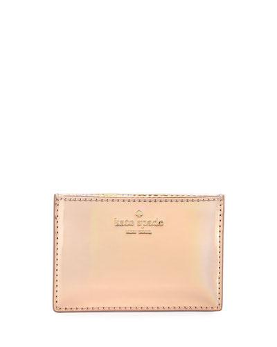 rainer lane card holder, rose gold