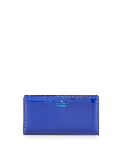 ranier lane stacy iridescent wallet, nightlife blue