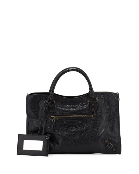 Balenciaga Giant 12 Brass City Bag, Black