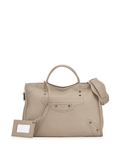 Blackout City AJ Shoulder Bag, Sand