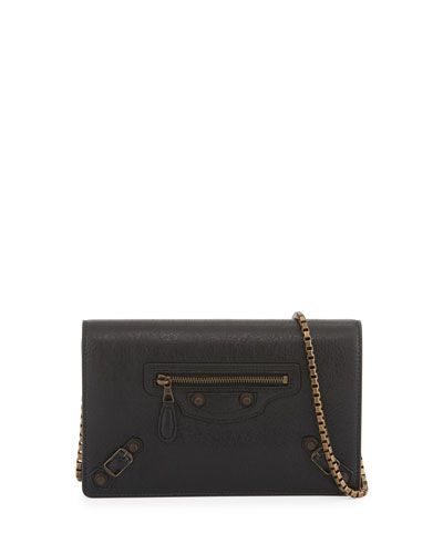 Giant Brass Wallet-on-Chain, Black