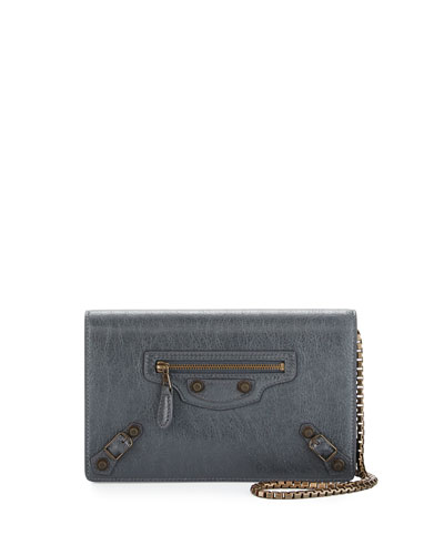 Giant Brass Wallet-on-Chain, Dark Gray