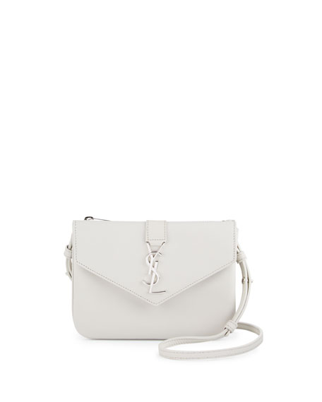 Tri-Pocket V-Flap Crossbody Bag, Gray
