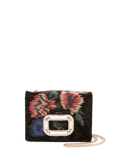 Pilgrim Beaded Micro Chain Shoulder Bag, Black/Multi