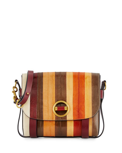 Alastair Small Striped Eel Crossbody Bag, Multicolor
