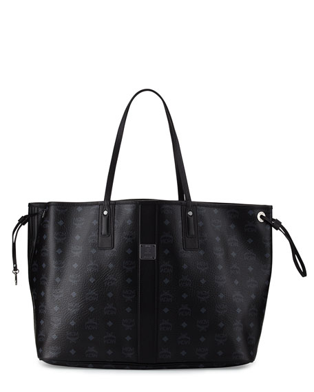 MCM Liz Large Reversible Shopper Tote Bag, Black
