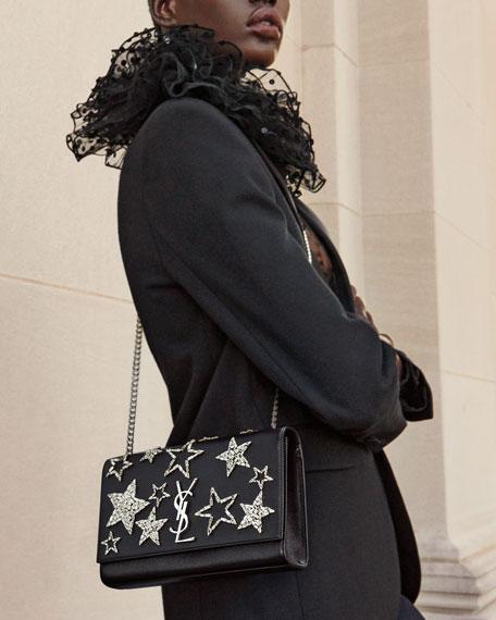 Monogram Medium Star Chain Shoulder Bag, Black