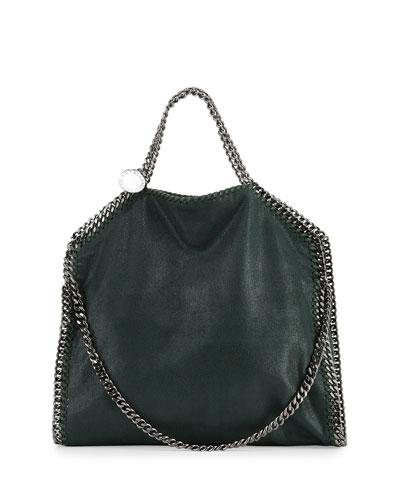Falabella Fold-Over Tote Bag, Dark Green