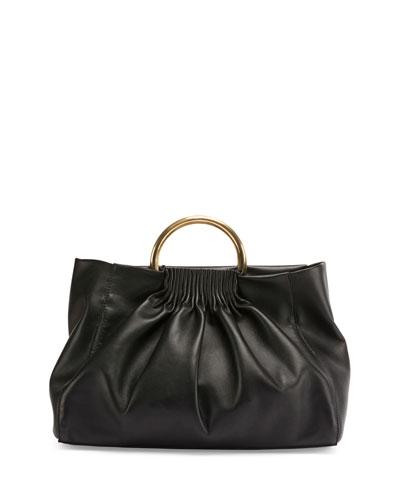 Alter Metal-Handle Satchel Bag, Black