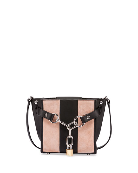 Alexander Wang Attica Mini Striped Chain Satchel Bag,