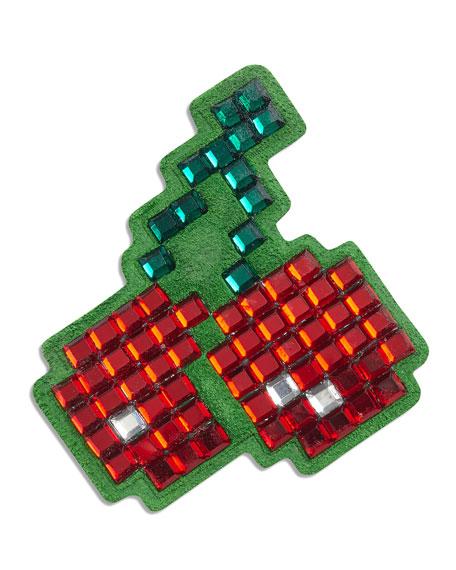 Anya Hindmarch Cherries Crystal Sticker for Handbag, Red