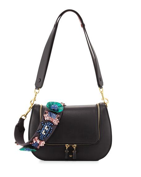Vere Space Invader™ Floral Satchel Bag, Black
