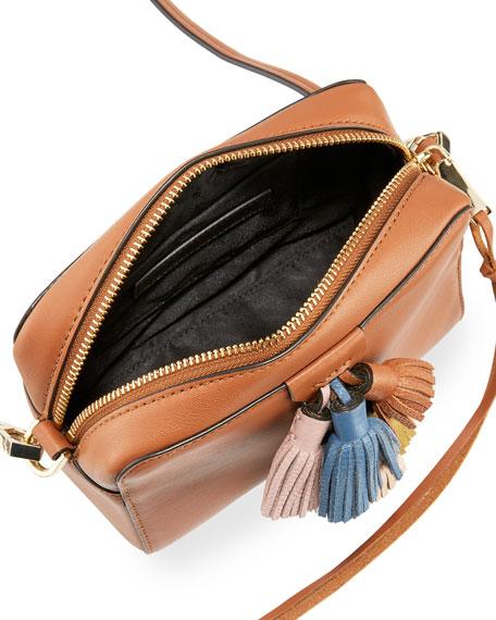 Rebecca Minkoff Sofia Leather Tassel Crossbody Bag Almond Multi Neiman Marcus
