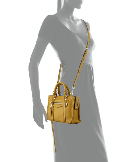 Regan Micro Leather Satchel Bag, Harvest Gold