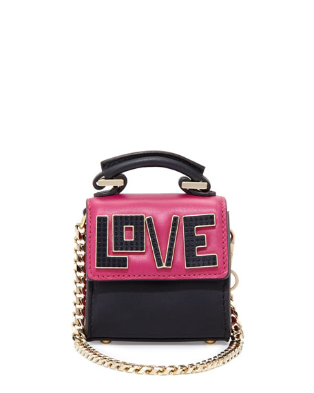 Nano Alex Black Widow Charm for Handbag, Fuchsia/Black