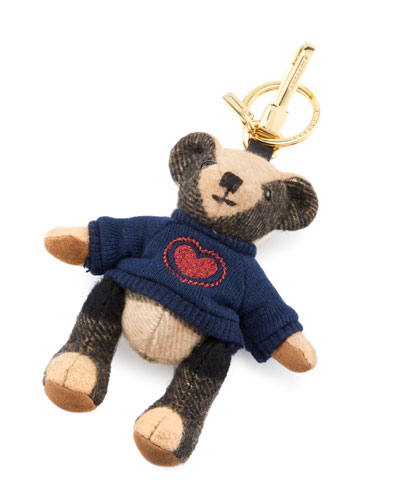 Thomas Bear Heart Charm, Camel