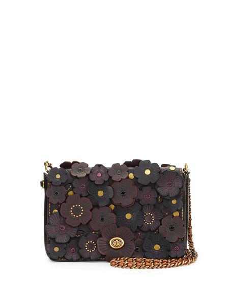 Coach 1941 Dinky Medium Floral Crossbody Bag Black   Neiman Marcus
