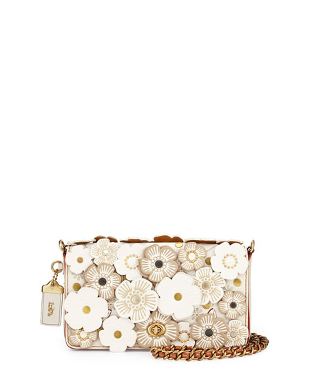 Coach 1941 Dinky Small Floral Crossbody Bag Chalk | Neiman Marcus