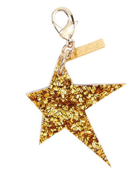 Star Bag Charm, Gold/Silver