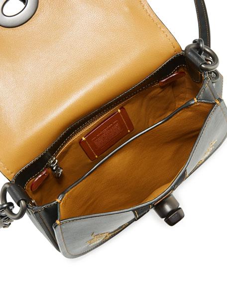 Coach 1941 23 Western-Embroidered Leather Saddle Bag, Black