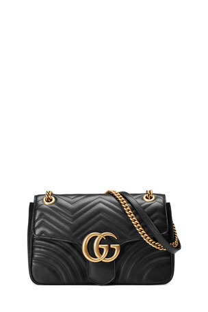 Gucci GG Marmont 2.0 Medium Quilted Shoulder Bag, Black